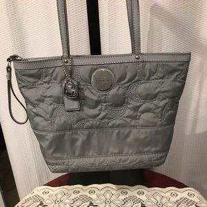 Coach - Gray - Stitch Outline Signature Tote